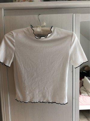 Zara Trafaluc Camicia cropped bianco-nero