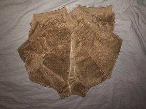 SheIn Veste en fausse fourrure brun-beige