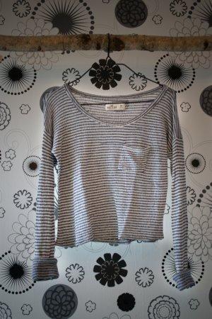 Hollister T-shirt court bleu foncé-blanc