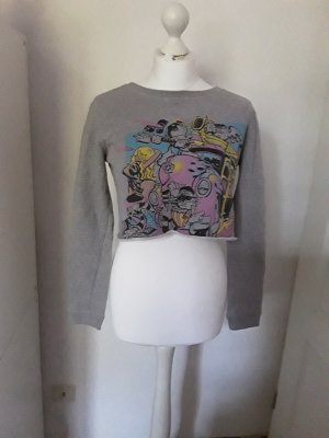 Cropped Shirt light grey