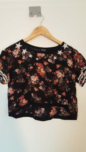 Bershka Cropped Shirt multicolored