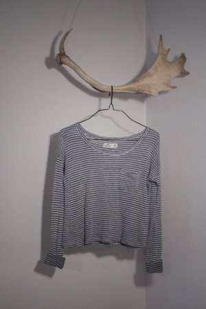 Hollister Cropped Shirt blue-white