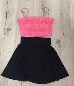 H&M Top corto rosa-rosa