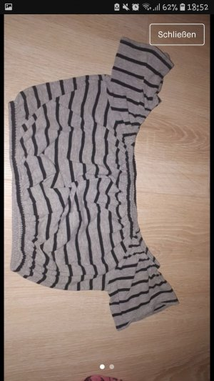 H&M Cropped shirt zwart-grijs