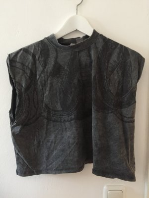 H&M Divided Cropped shirt donkergrijs