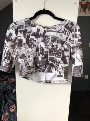 Andy Warhol by Pepe Jeans London Top corto bianco-nero