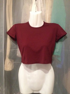 Crop Top dunkelrot bordeaux Gr. T1 (XS) von Morgan