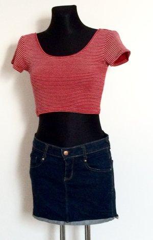 Crop Top, Gestreiftes Shirt, Ringeltop, Bauchfreies T-Shirt