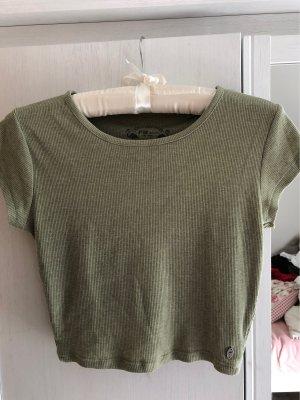 FB Sister Camicia cropped grigio-verde