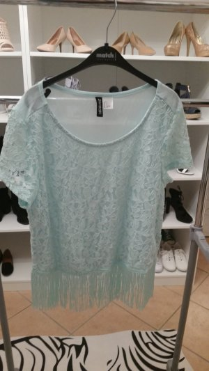 Crop Top H&M Mint mit Fransen Gr. S