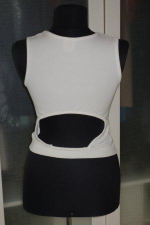 Crop Top in weiß von NO PIC Gr.M mit Rückenausschnitt