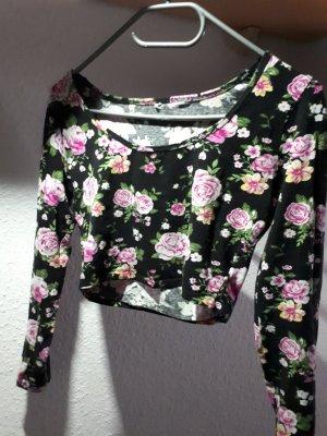 Camisa recortada multicolor