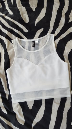 Crop Top Mesh weis H&M S