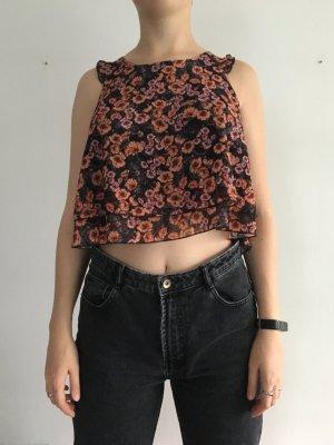 Crop-top multicolore polyester