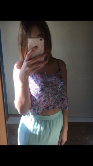 Crop Top mit Blumenprint
