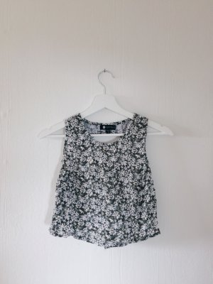 CROP TOP mit CUT OUT und Flowerprint