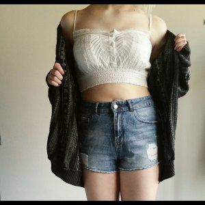 H&M Crop-top blanc