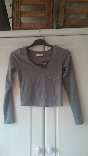 Abercrombie & Fitch Top corto grigio chiaro-grigio