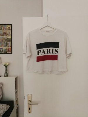 "Crop Top mit ""Paris""-Print von Brandy Melville"