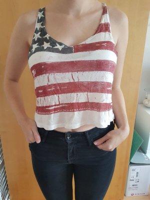 Crop Top mit USA Flagge
