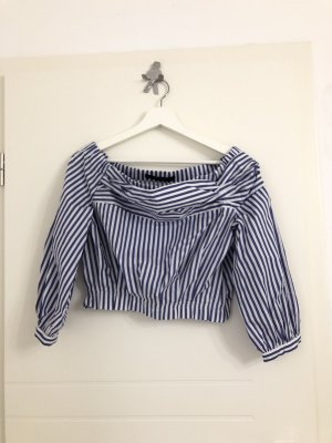 H&M Blusa blu-bianco