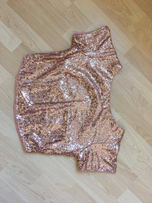 Camicia cropped color oro rosa