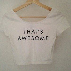 Crop Top  - S - Weiß - Print Awesome