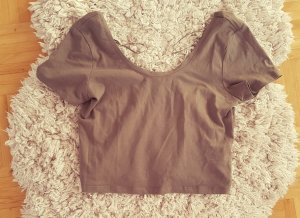 Crop Top Shirt Bauchfrei Khaki