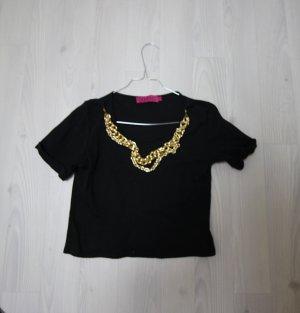 Crop Top Shirt mit Ketten ( abnehmbar )