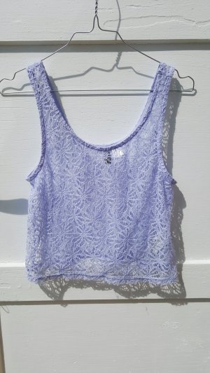 H&M Lace Top purple viscose