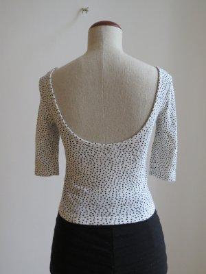 Crop Top / Tshirt mit tiefem Rücken und Punkten