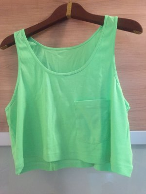 Crop Top von American Apparel fluorescent grün