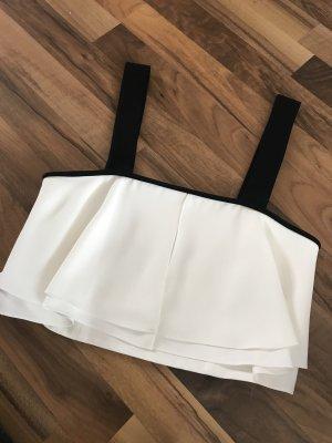 Zara Top corto bianco-nero