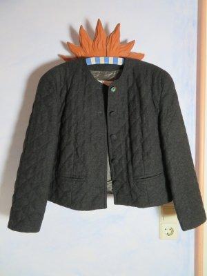 Vintage Giacca di lana antracite-nero Lana vergine