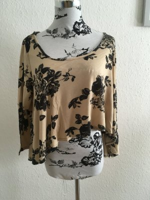 Crop Vintage Blumenprint Shirt