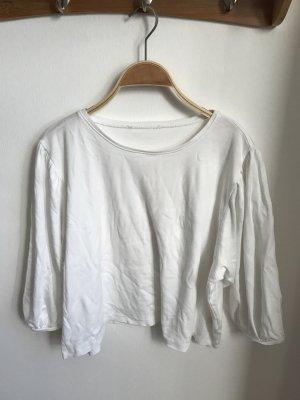 New Look Camisa recortada blanco puro