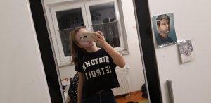 FB Sister Cropped shirt wit-zwart