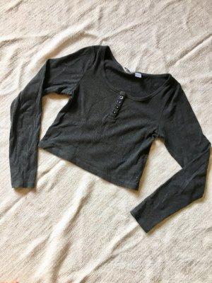 H&M Divided Camicia cropped grigio scuro