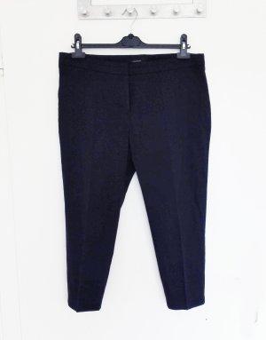 Cropped Anzughose Hose mit Bügelfalte Neu 42 Atmosphere Dunkelblau Blau Marine