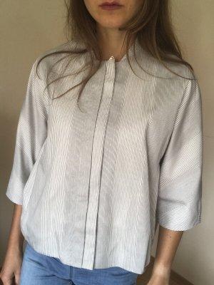 COS Blouson black-white cotton