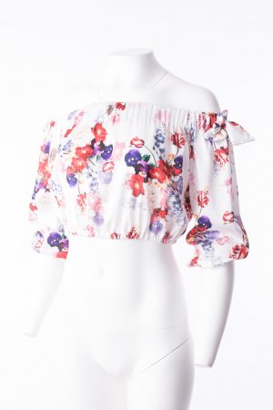 Blouse brillante multicolore polyester