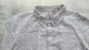 Cropped Bluse mit Lochmusterspitze, Knöpfe, H&M Divided