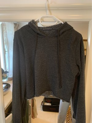 Brandy & Melville Jersey con capucha gris oscuro