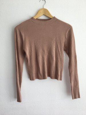 H&M Divided Camisa recortada beige-rosa empolvado