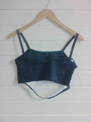 Cropped Crop Top schwarz