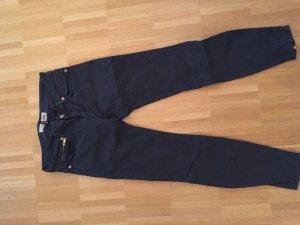 cropped Drykorn Jeans mit goldenen Reißverschlüssen