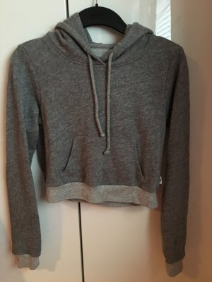 Cropped Hoodie in grau von Abercrombie & Fitch