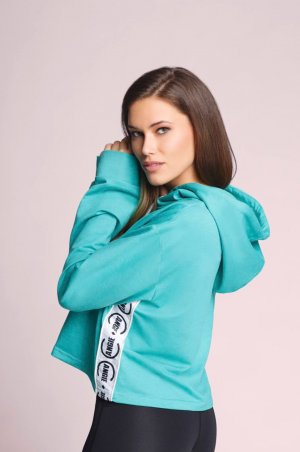 Cropped Hoodie in Mint