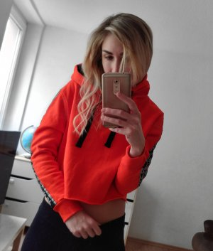 Cropped hoodie orange Gr S