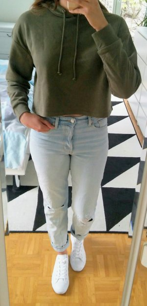 cropped Hoody in khaki von H&M